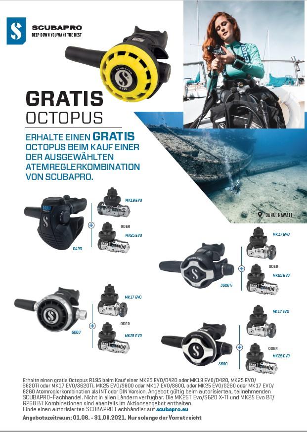 Scubapro Octopus for free 2021/06
